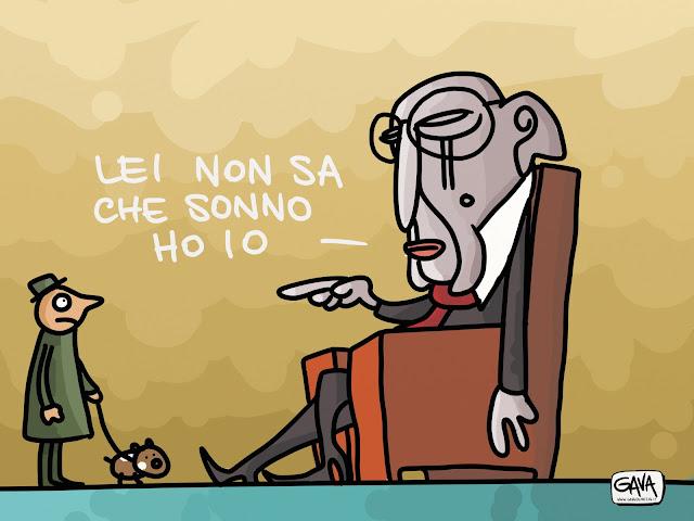Gava Satira Vignette Napolitano sonno addormentato