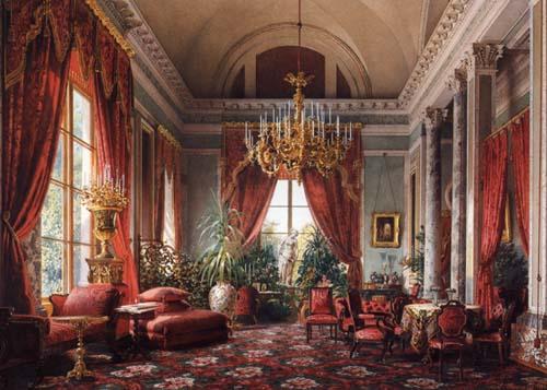 Historia del mueble y de la decoraci n interiorista 21 el romanticismo estilo neobarroco - Salones antiguos ...