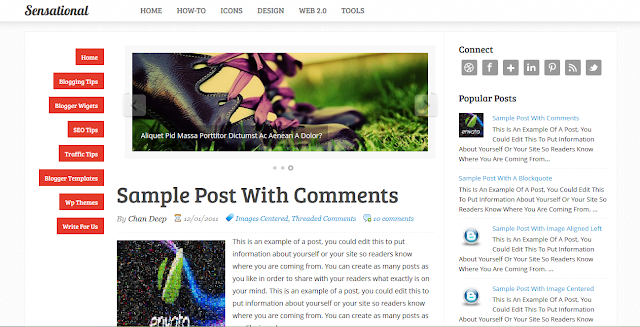 prefessional blogger templates