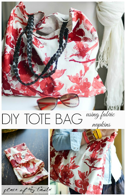 DIY Fabric Napkin Tote Sewing