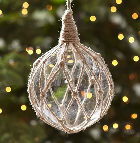 Clear Glass Float Ornament