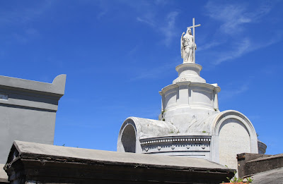 Charity on top of the Mutual Benevolent Society Tomb - New Orleans