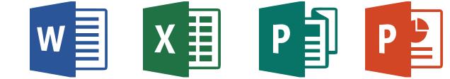 Aplicativos Microsoft Word - Microsoft Excel - Microsoft Publisher - Microsoft PowerPoint