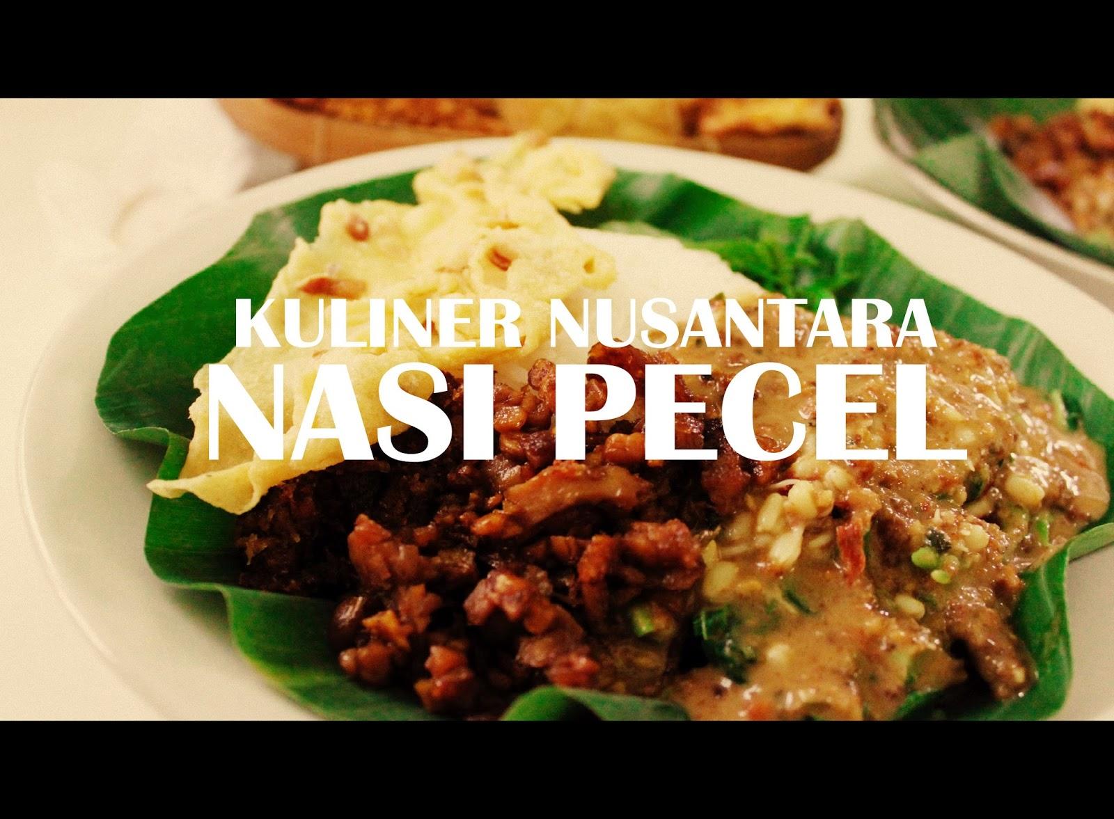 Kuliner Nusantara Nasi Pecel Negeriku Indonesia