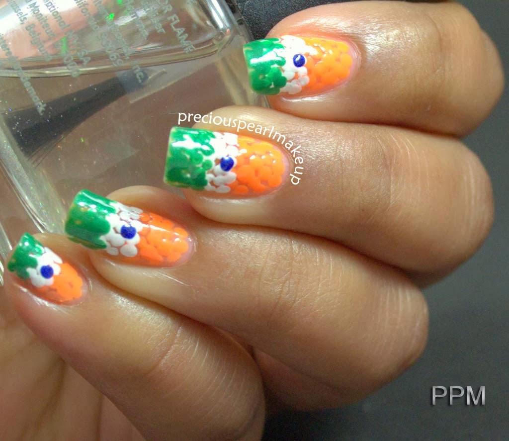 preciouspearlmakeup: Republic Day Nail Art