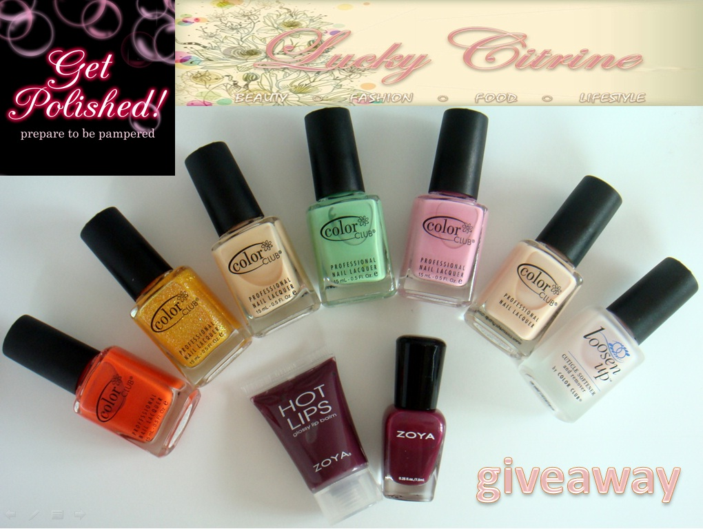 Lucky citrine closed lucky citrine x get polished giveaway for Polished nail salon
