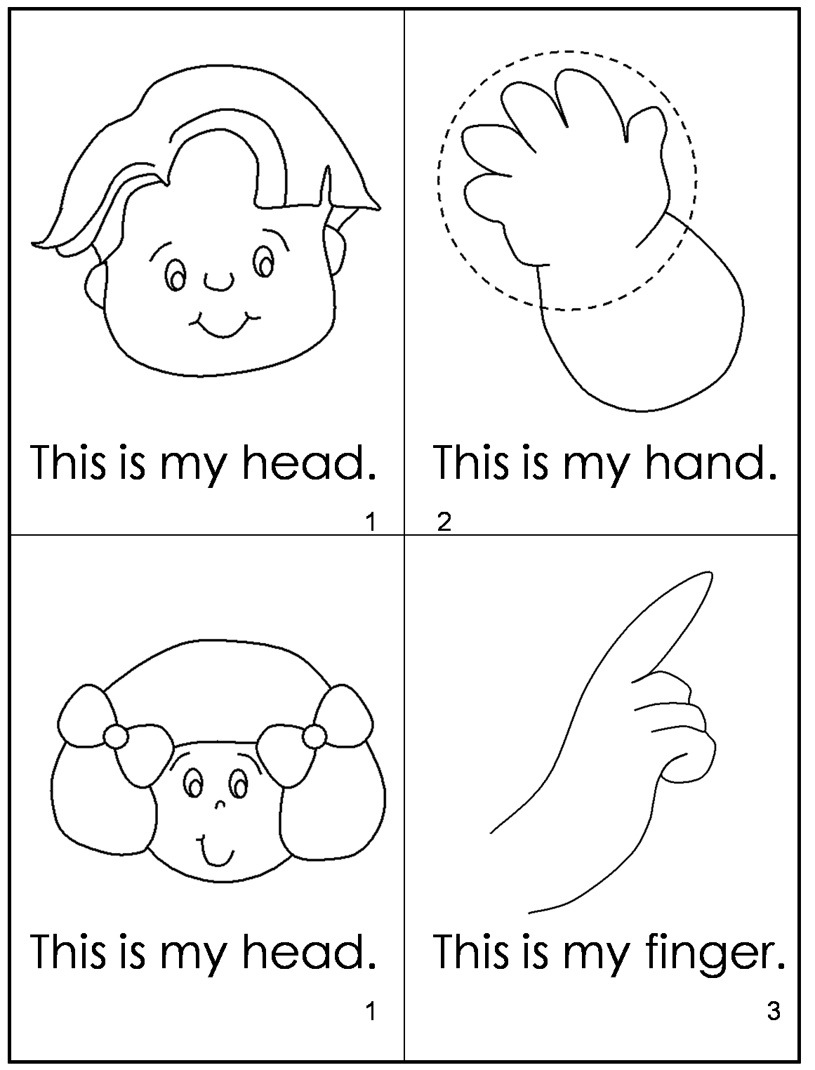 preschool body parts coloring pages - photo#25