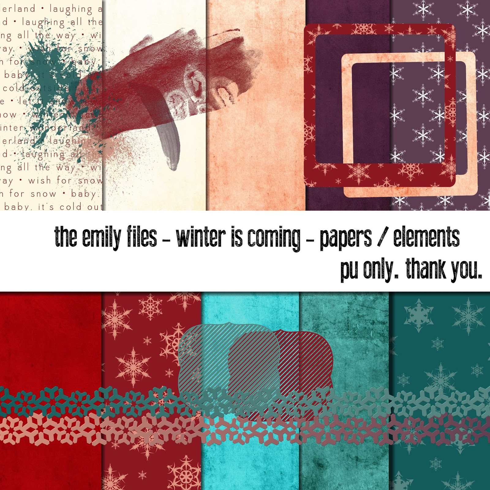Winter is Coming Digital Scrapbooking MiniKit
