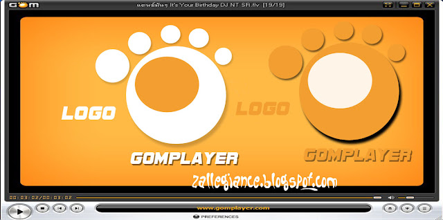 Logo GOM PLayer Video - Hasil Belajar Photoshop