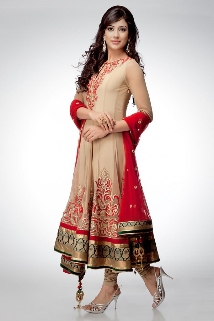 New anarkali suit designs for women fashionip for Girls suit design