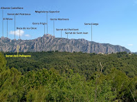 Panoràmica del sector de Collbató de Montserrat des de la Serra de Can Mata