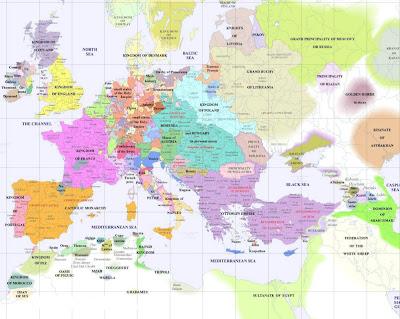 Kart over Europa Politisk