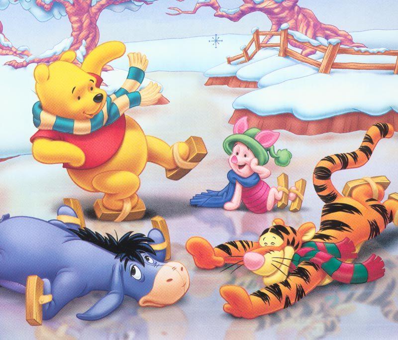 Winnie Pooh sobre hielo
