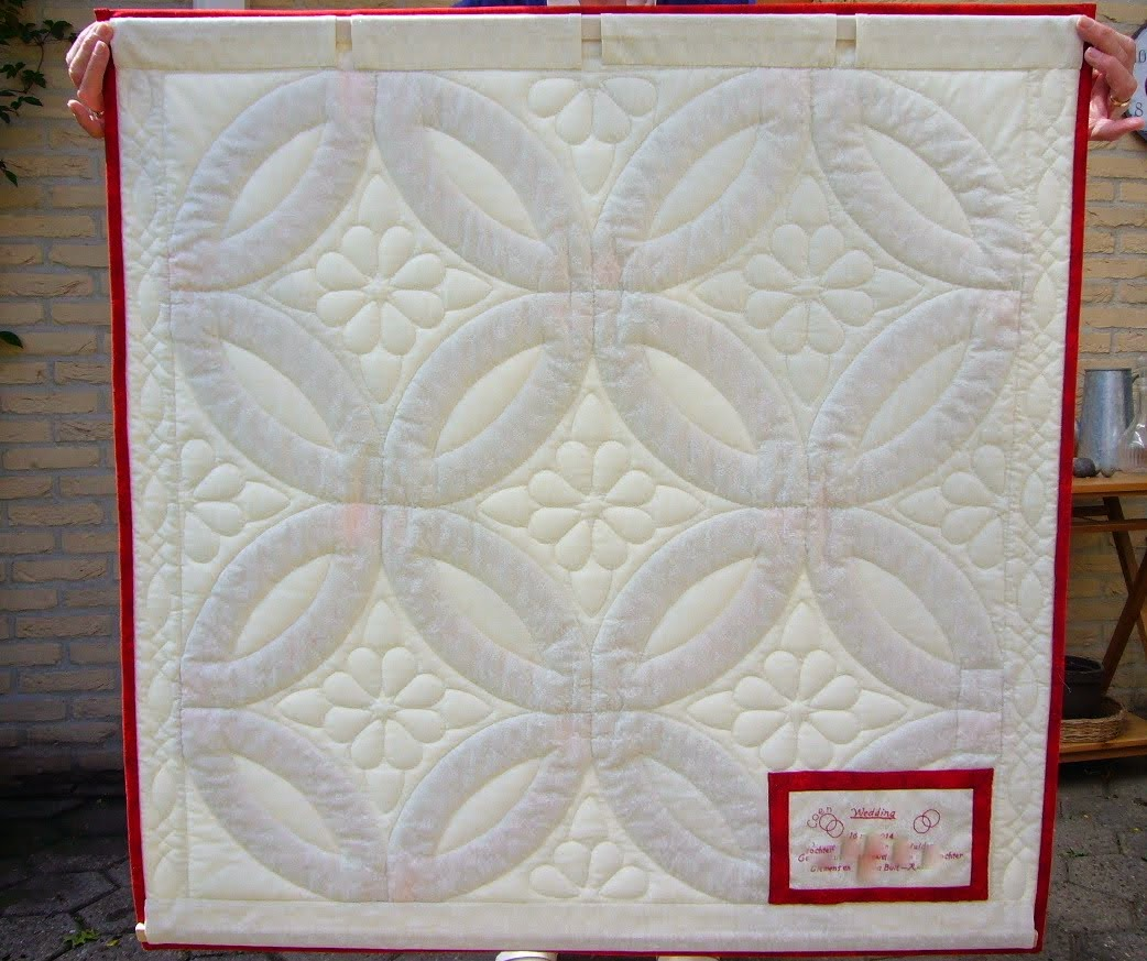 Achterkant wedding quilt