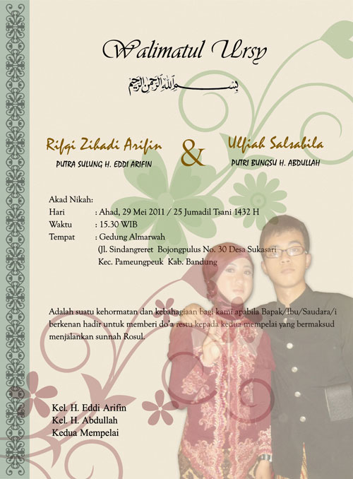 Kartu Undangan Pernikahan