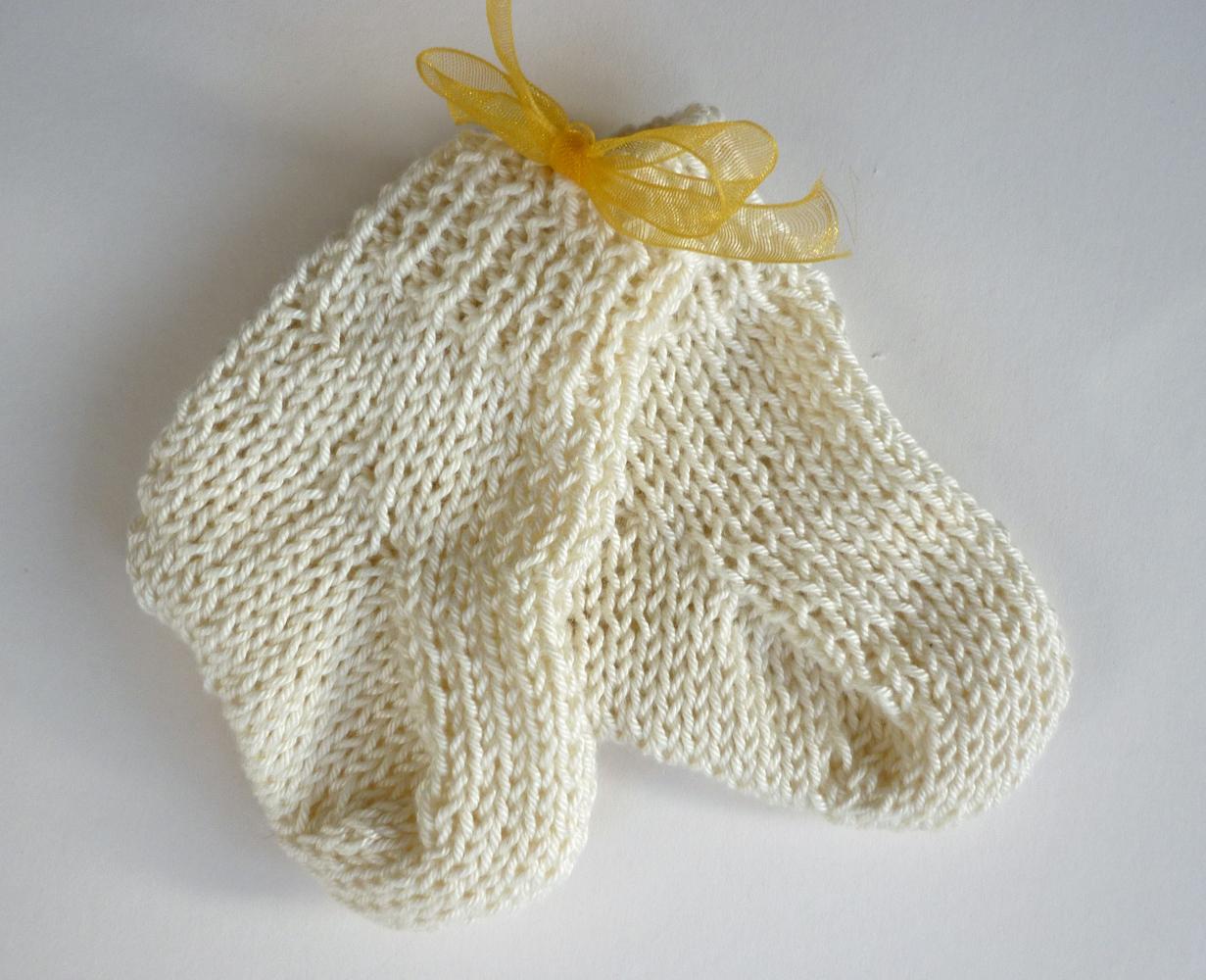 Mack and Mabel: Stash Buster Baby Socks Knitting Pattern
