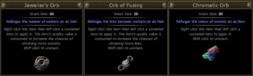 Path of Exile - Socket Tool Items