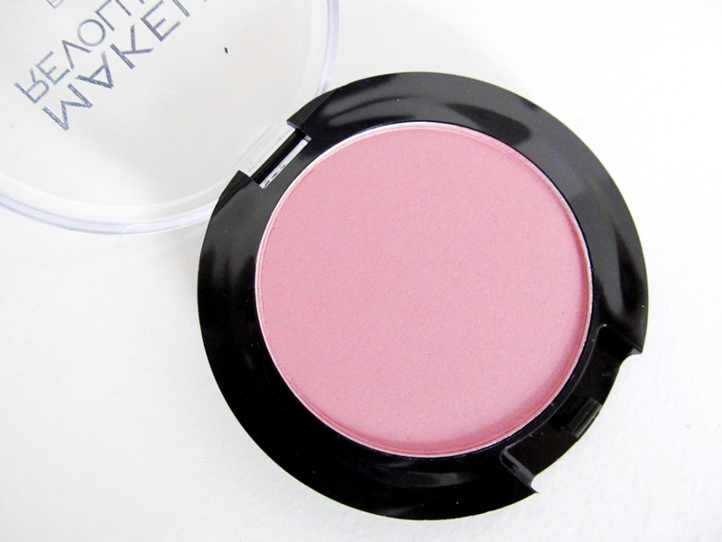 "Makeup Revolution's single powder blush in ""Now!"""