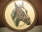 antique horse portrait from Saugatuck