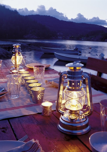 Glamping tablescape