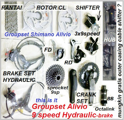 groupset alivio 9sp