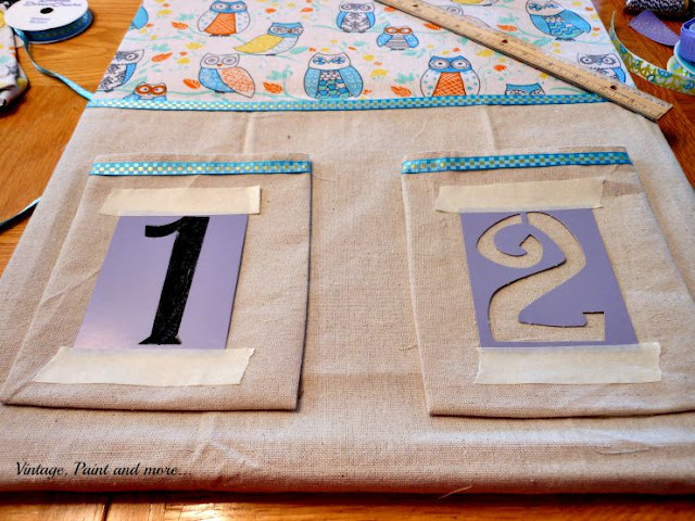 Vintage, Paint and more... DIY Dorm Decor - stenciling on a recycled bulletin board