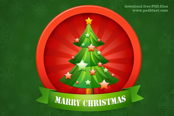 4. Christmas Tree Icon (PSD)