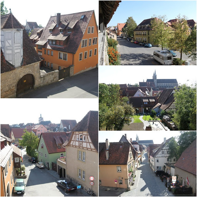 The city view at the top of the city wall of Rothenburg, Germany