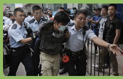 Detenidos en Hong Kong dos líderes estudiantiles prodemocracia