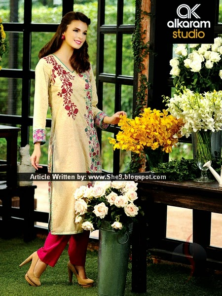 Alkaram Embroidered Chiffon