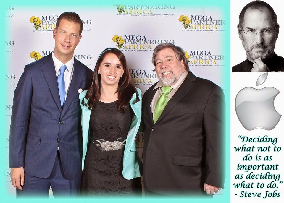 JT Foxx, Marisa da Silva and Steve Wozniak (Co-founder of Apple)
