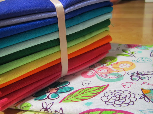 rainbow fabric fat quarters