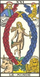 Arcano 21: O Mundo / Universo, carta do tarô, tarot, baralho de marselha