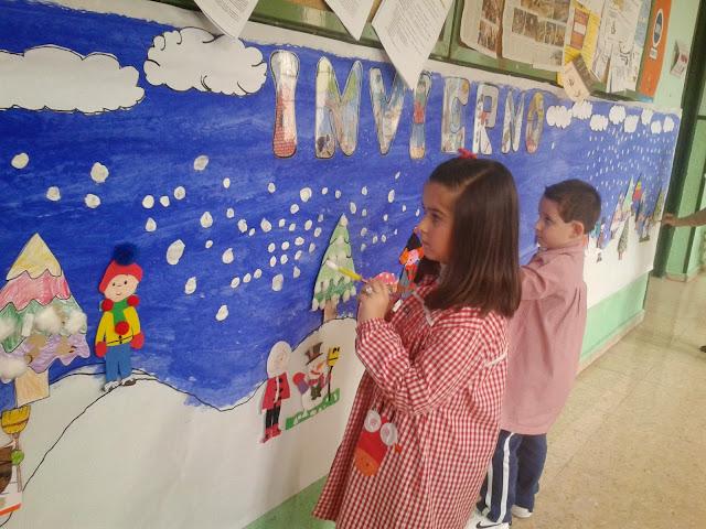 Los peques de feli nuestro mural del invierno - Proyecto el invierno ...