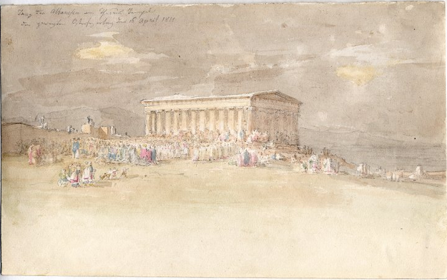 Albanian dance at the Theseion(Athens,1811)