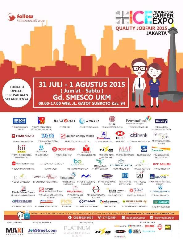 Jadwal Job Fair di Jakarta Juli 2015 Terbaru