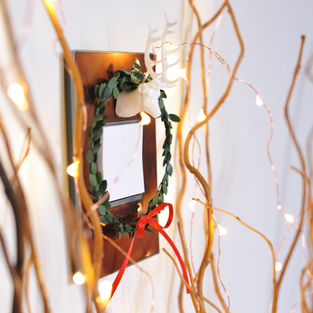 DIY Custom Holiday Wall Plate adorne by Legrand