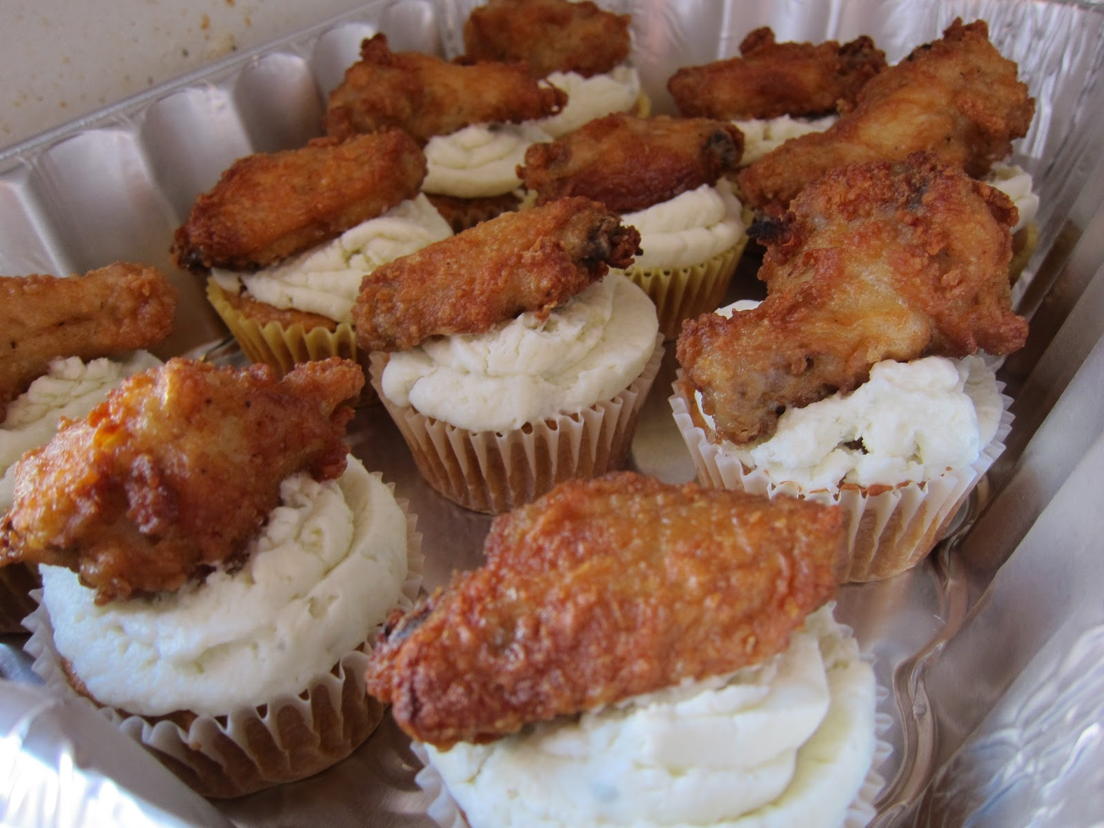 After frosting the cake you just adorn the cupcake with a hot chicken ...