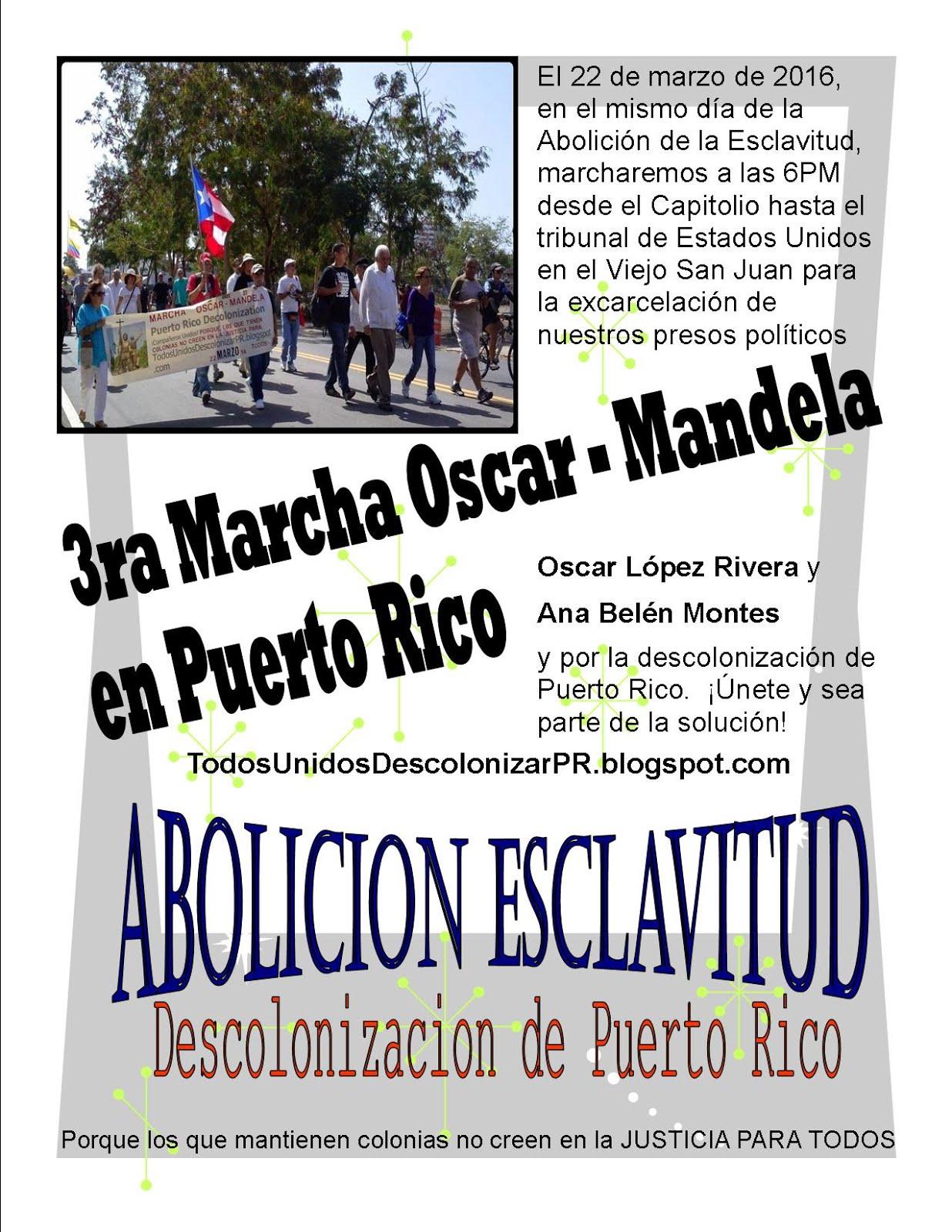 3ra Marcha Oscar - Mandela en Puerto Rico 2016