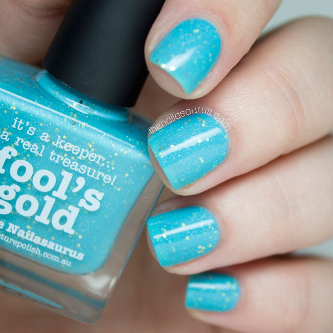 piCture pOlish // Fool's Gold by The Nailasaurus