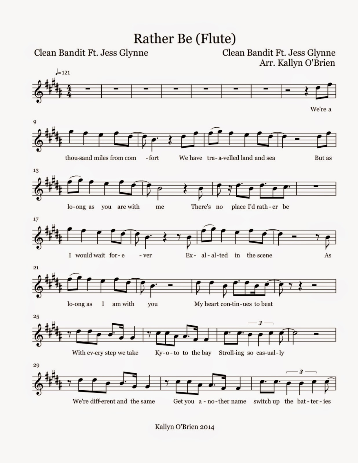 Flute sheet music rather be sheet music for What does the song moon river mean