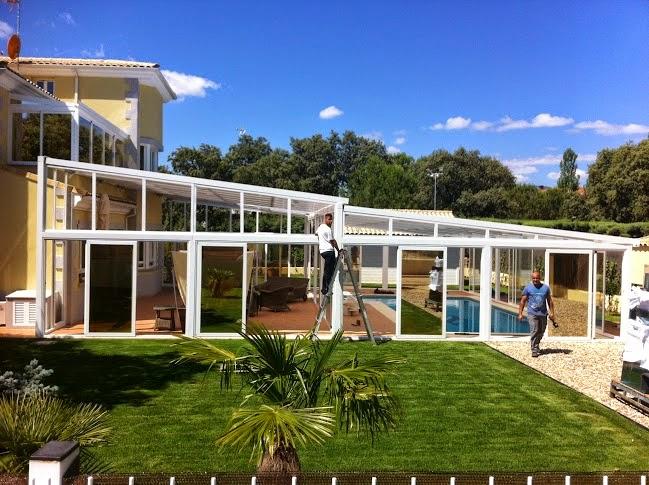 Aluminio cierres de maxima calidad en viviendas de lujo - Cubiertas de aluminio para terrazas ...