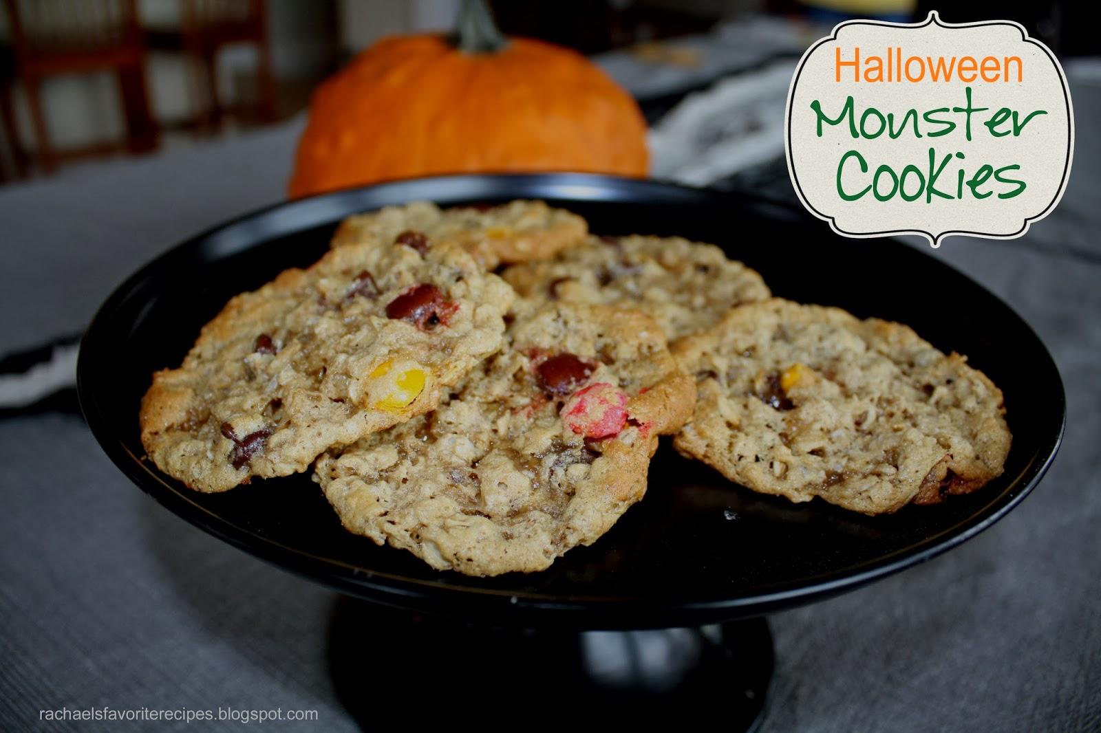Monster Halloween Cookies: RACHAEL'S FAVORITE RECIPES: Halloween Monster Cookies