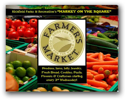 Farmers Market Postcard design for Richfield Village