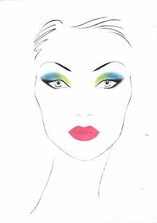 bright make-up look