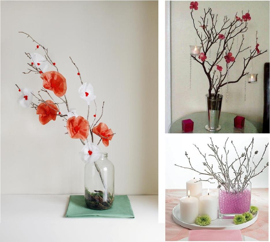 Made in jessie decoraci n con ramas secas for Decoracion para pared san valentin