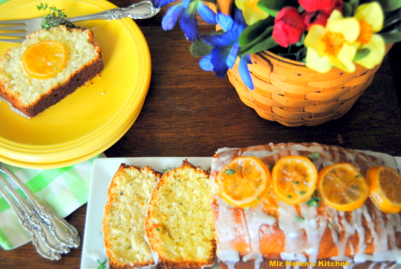 Candied Lemon Thyme Bread at Miz Helen's Country Cottage