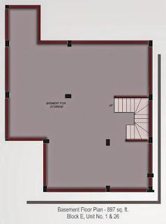 Oxford Square :: Floor Plans,Super Area 154 Sq. Yd. :-Basement Floor PlanSuper Area: 897 Sq. Ft.