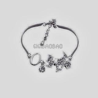 gi#b New Plated Circle Chain Dog Charm Bracelet Bangle N