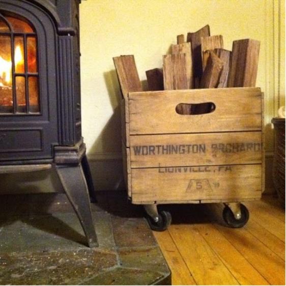 Manualidades - Cajón de madera para leña